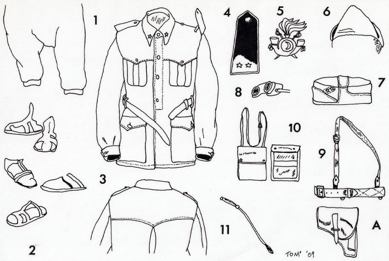 Uniforme Ufficiale meharista © Andrea & Antonio Tallillo - Click to enlarge
