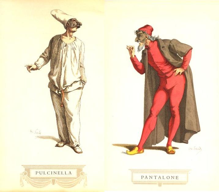 Risultati immagini per pulcinella e pantalone
