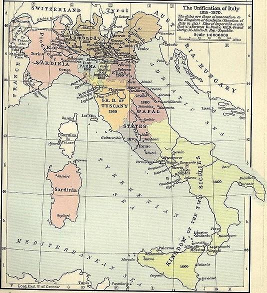 Italia 1815-1870 - Click to enlarge