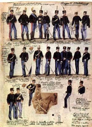 Divise di Cavalleria del 1887 - Stefano Deliperi