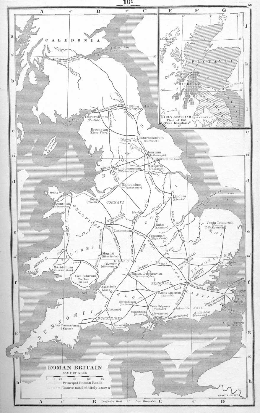 La Britannia romana - Click to enlarge